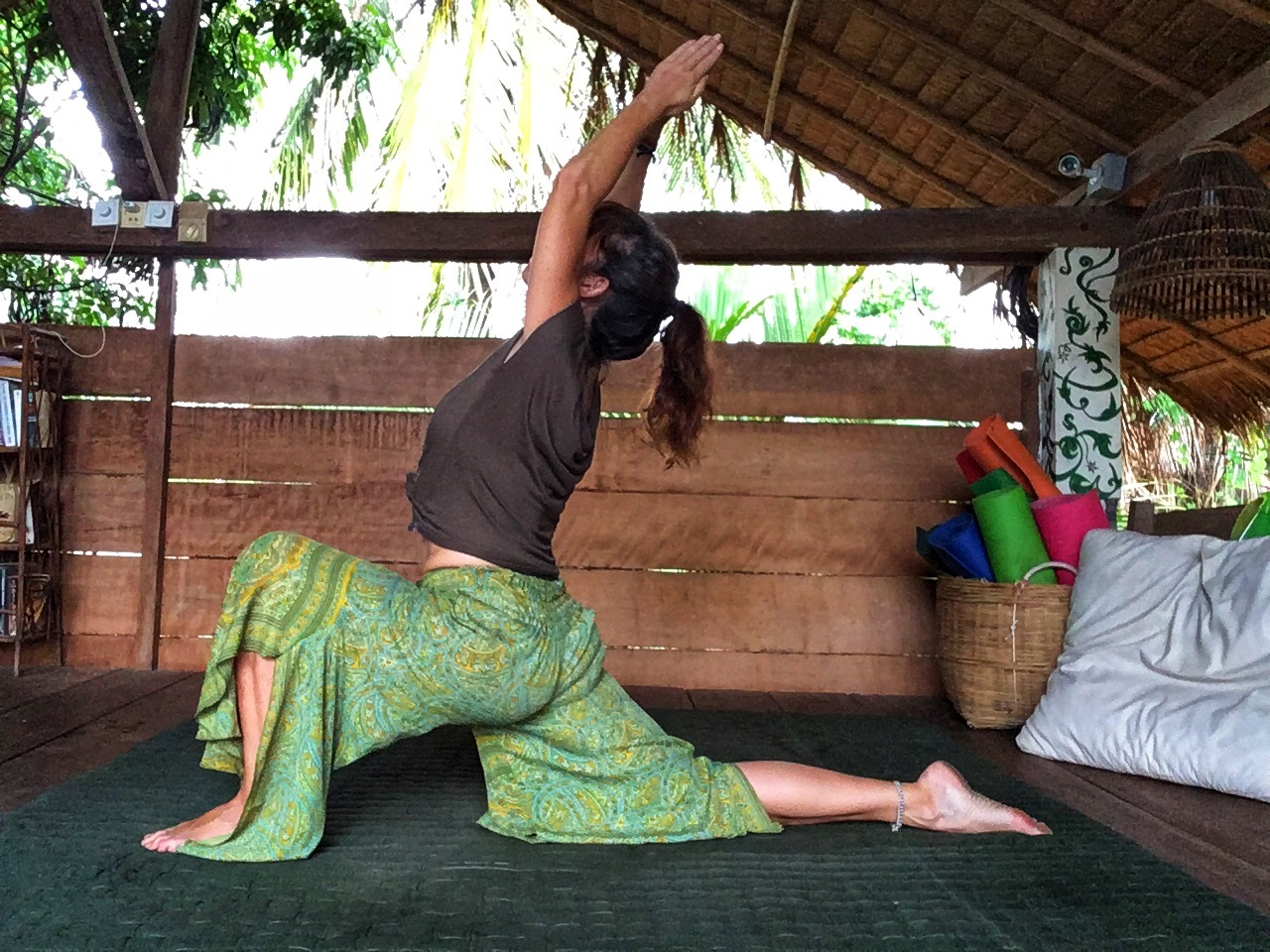 Montse in Anjaneyasana