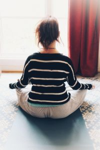Meditating in the morning for a better day