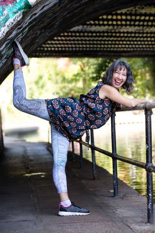 Montse doing dancers pose